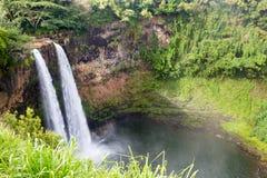 Debajo de las caídas de Wailua Imagen de archivo libre de regalías