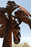 Debajo de mi palma larga Imagen de archivo libre de regalías