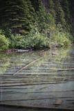 Debajo de registros del agua Foto de archivo
