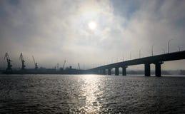 Debajo de un puente Imagen de archivo
