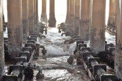 Debajo de una choza de la playa Imagen de archivo