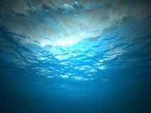 Debajo del agua foto de archivo