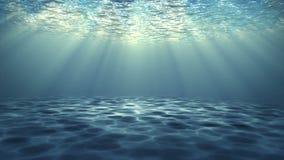 Debajo del agua con el rayo del fondo video de colocación ligero ilustración del vector