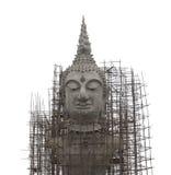 Debajo del aislante de Buda de la construcción en el fondo blanco Imágenes de archivo libres de regalías