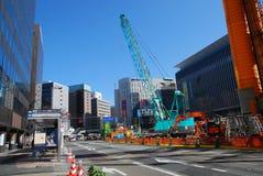 Debajo del camino de la construcción en Japón Foto de archivo libre de regalías