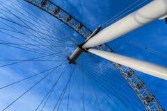 Debajo del ojo de Londres Imagen de archivo libre de regalías