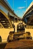 Debajo del puente Fotos de archivo libres de regalías