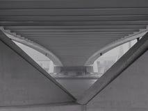 Debajo del puente de Erasmus en Rotterdam Imagenes de archivo