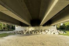 Debajo del puente de la isla de Sanibel fotografía de archivo
