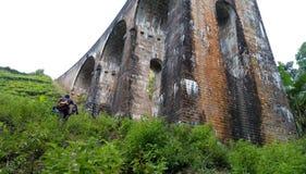 Debajo del puente Demoodara Sri Lanka de nueve arcos Imagen de archivo