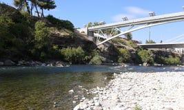 Debajo del puente en Podgorica fotografía de archivo libre de regalías