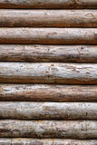 Debarked Rough Log Cabin Wall Vertical Background Royalty Free Stock Image