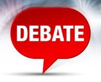 Debata bąbla Czerwony tło royalty ilustracja