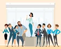 Debate in business Stock Image