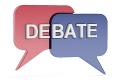Debate concept, 3D rendering Stock Images