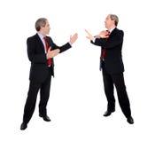 Debate dos homens de negócio foto de stock