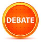 Debate Natural Orange Round Button vector illustration