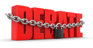Debate and lock (clipping path included) Stock Images