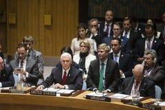 Debate na cimeira do Conselho de segurança de UN Fotos de Stock