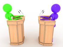 Debate people in the stands #1 Royalty Free Stock Photo