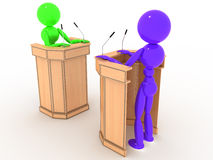 Debate people in the stands #2 Royalty Free Stock Images