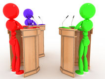 Debate people in the stands #8 Royalty Free Stock Photos