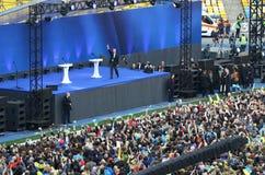 Debate presidencial ucraniano em Kyiv imagem de stock royalty free