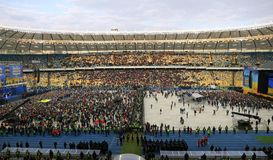 Debate presidencial ucraniano em Kyiv fotografia de stock