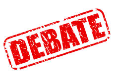 Debate red stamp text. On white vector illustration