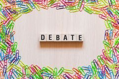 Debate word concept royalty free stock photos
