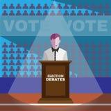 Debates da eleição Fotos de Stock