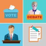 Debates da eleição Imagens de Stock Royalty Free