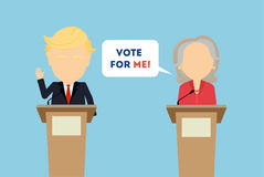Debates on election. Stock Photos