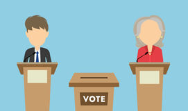 Debates on election. Royalty Free Stock Images