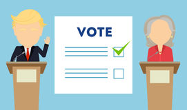 Debates on election. Stock Image