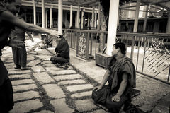 Debating Buddhist monks, Dalai Lama temple, McLeod Ganj, India Stock Image