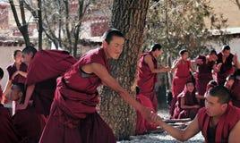 Debating monks in Tibet Royalty Free Stock Photos