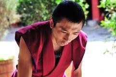 Debating monks in Tibet Stock Photo