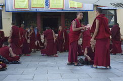 Debating Tibetan Monks Royalty Free Stock Photo