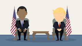 Debatten bij de verkiezing Stock Foto's