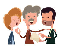 Debattera och talande illustrationtecknad filmtecken för folk Fotografering för Bildbyråer