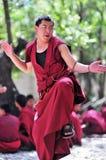 Debatterende monniken in Tibet Royalty-vrije Stock Afbeelding