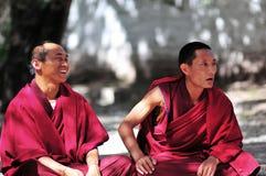 Debattieren der Mönche in Tibet Lizenzfreie Stockfotografie