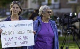 debattperson som protesterarrnc Royaltyfria Bilder