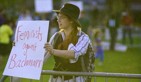 debattperson som protesterarrnc Royaltyfri Foto