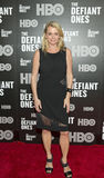 Debbie Bancroft. Socialite Debbie Bancroft arrives on the red carpet for the New York premiere of the HBO premium cable tv four part documentary, `The Defiant Stock Images