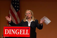 Debbie Dingell speaks at John Dingell rally Stock Photography