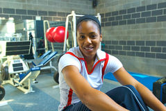 Debbie Dunn US 400m Sprinter. Debbie Dunn 400m US Track & Field Sprinter Working Out Royalty Free Stock Images