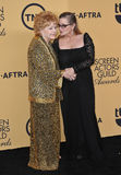 Debbie Reynolds & Carrie Fisher fotografia stock