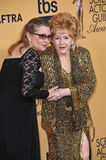 Debbie Reynolds & Carrie Fisher fotografia royalty free